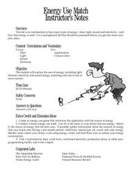 Energy Use Match PDF