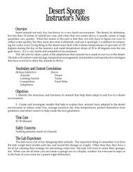 Desert Sponge PDF