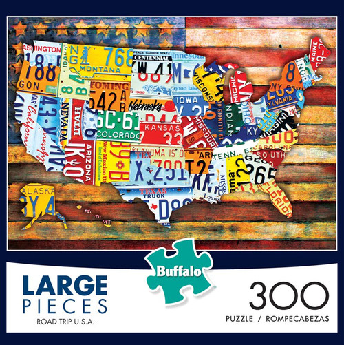 Road Trip U.S.A. 300 Large Piece Jigsaw Puzzle Box
