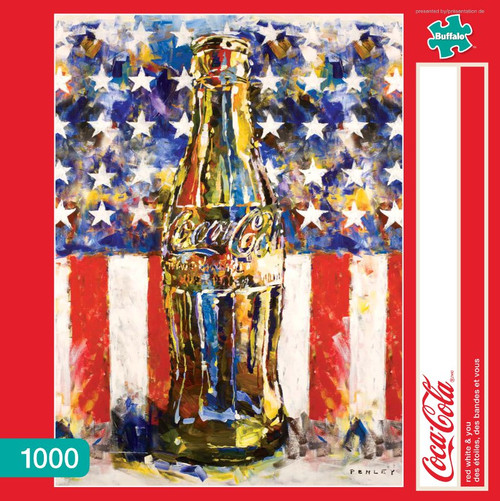 Coca-Cola Red, White, & You 1000 Piece Jigsaw Puzzle Box