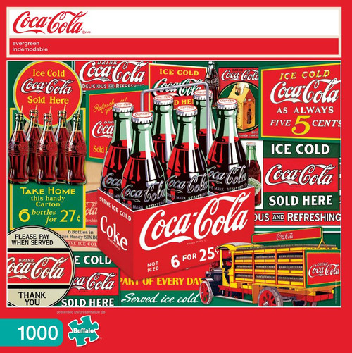Coca-Cola Evergreen 1000 Piece Jigsaw Puzzle Box