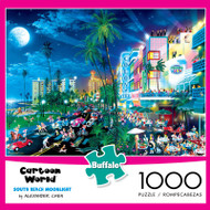 Cartoon World South Beach Moonlight 1000 Piece Jigsaw Puzzle Box