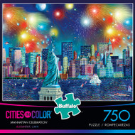 Cities in Color Manhattan Celebration 750 Piece Jigsaw Puzzle Box