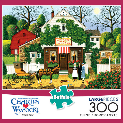 Charles Wysocki Small Talk 300 Large Piece Jigsaw Puzzle Box