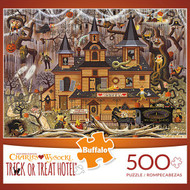 Charles Wysocki Trick or Treat Hotel 500 Piece Jigsaw Puzzle Box