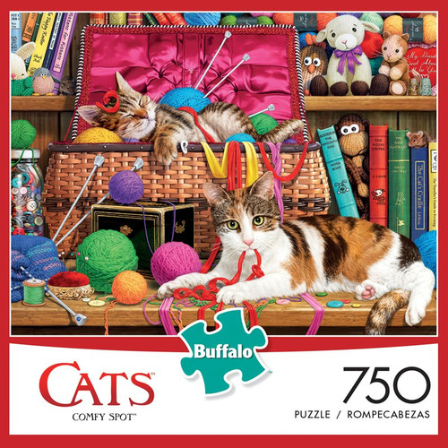 Cats Comfy Spot 750 Piece Jigsaw Puzzle Box