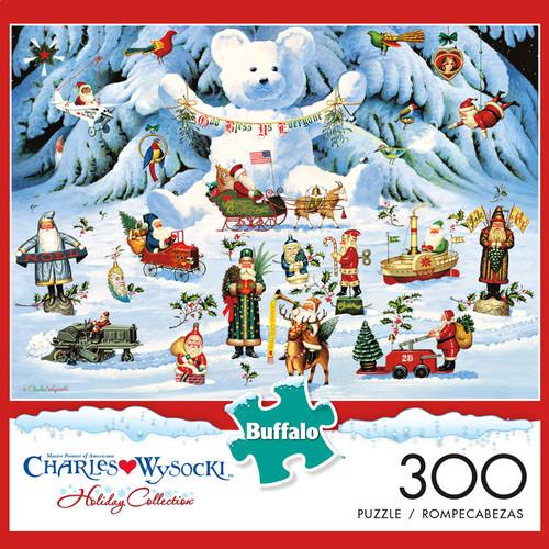 Charles Wysocki Jingle Bell Teddy & Friends 300 Large Piece Jigsaw Puzzle Box