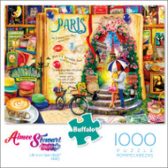 Aimee Stewart Life is an Open Book PARIS 1000 Piece Jigsaw Puzzle Box