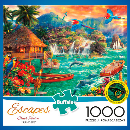 Chuck Pinson Escapes Island Life 1000 Piece Jigsaw Puzzle Box