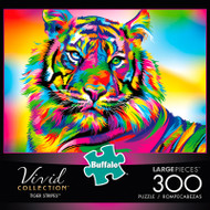 Vivid Tiger Stripes 300 Large Piece Jigsaw Puzzle Box
