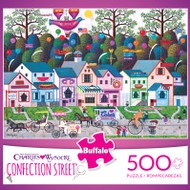 Charles Wysocki Confection Street 500 Piece Jigsaw Puzzle Box