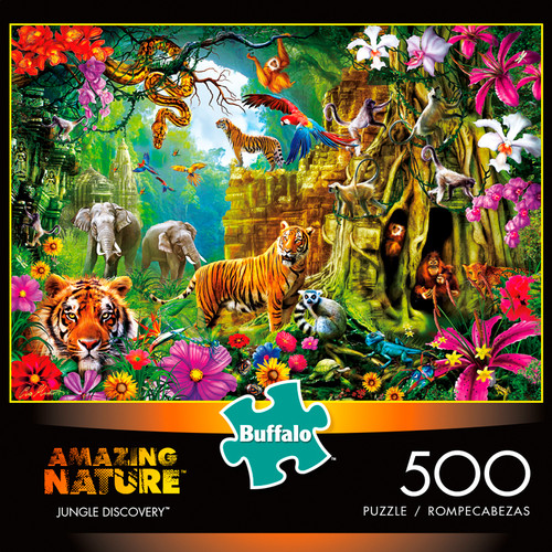 Amazing Nature Jungle Discovery 500 Piece Jigsaw Puzzle Box