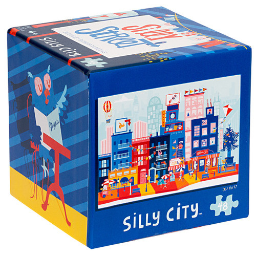 Silly Street Silly City 48 Piece Children's Jigsaw Puzzle Box