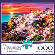 Signature Collection Dreamy Santorini 1000 Piece Jigsaw Puzzle Box