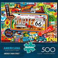 Americana Collection America's Main Street 500 Piece Jigsaw Puzzle Box