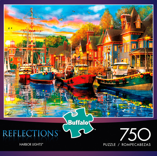 Reflections Harbor Lights 750 Piece Jigsaw Puzzle Box