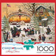 Charles Wysocki A Christmas Greeting 1000 Piece Jigsaw Puzzle Box
