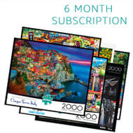 2000 Piece 6 Month Jigsaw Puzzle Subscription