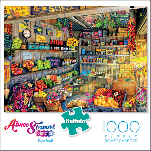 Aimee Stewart Collection: Farm Fresh 1000 Piece Jigsaw Puzzle Box