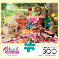 Adorable Animals Picnic Raiders 300 Large Piece Jigsaw Puzzle Box