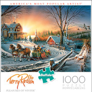 Terry Redlin The Pleasures of Winter 1000 Piece Jigsaw Puzzle Box