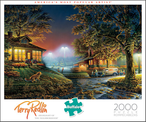 Terry Redlin Highlight Of The Neighborhood 2000 Piece Jigsaw Puzzle Box