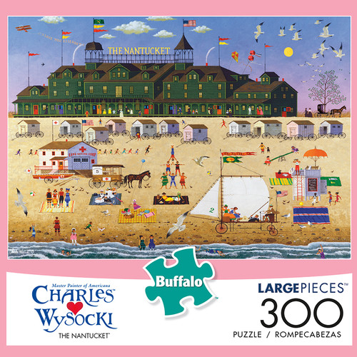 Charles Wysocki The Nantucket 300 Large Piece Jigsaw Puzzle Box