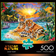 Amazing Nature Sunset Tigers 500 Piece Jigsaw Puzzle Box