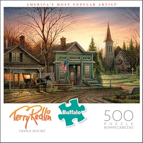 Terry Redlin Office Hours 500 Piece Jigsaw Puzzle Box