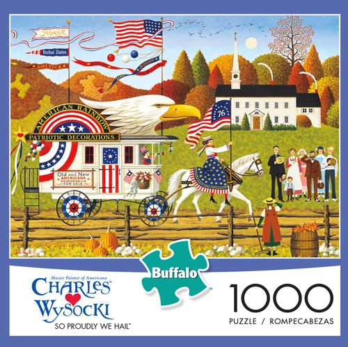 Charles Wysocki So Proudly We Hail 1000 Piece Jigsaw Puzzle Box