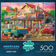 Americana Collection Country Store 500 Piece Jigsaw Puzzle Box