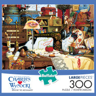 Charles Wysocki Maggie The Messmaker 300 Large Piece Jigsaw Puzzle Box