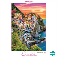 Earthpix Cinque Terre Sunset 500 Piece Jigsaw Puzzle Box