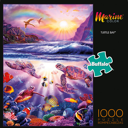 Marine Color Turtle Bay 1000 Piece Jigsaw Puzzle Box