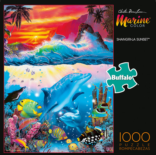 Marine Color Shangri-La Sunset 1000 Piece Jigsaw Puzzle Box