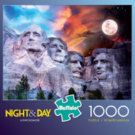 Night & Day Mount Rushmore 1000 Piece Jigsaw Puzzle Box
