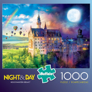 Night & Day Neuschwanstein Dreams 1000 Piece Jigsaw Puzzle Box