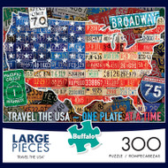Travel The USA 300 Large Piece Jigsaw Puzzle Box