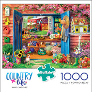 Country Life Farm Flower Shed 1000 Piece Jigsaw Puzzle Box