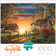 Terry Redlin Morning Surprise 1000 Piece Jigsaw Puzzle Box