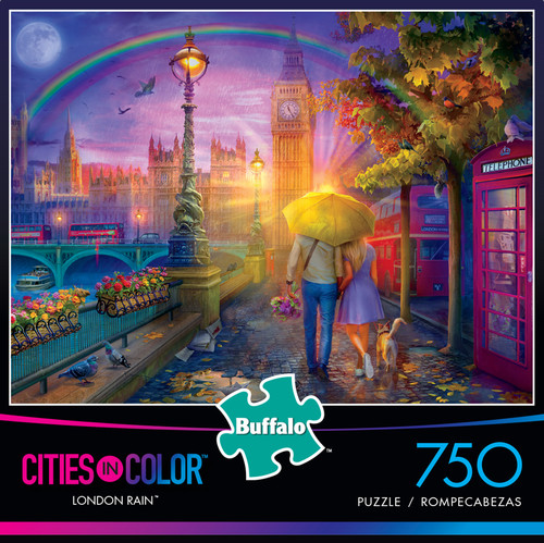 Cities in Color London Rain 750 Piece Jigsaw Puzzle Box