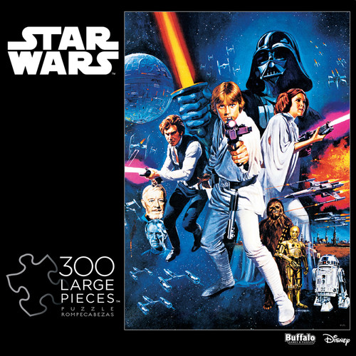 Star Wars™ A New Hope Movie Poster 300 Large Piece Jigsaw Puzzle Box