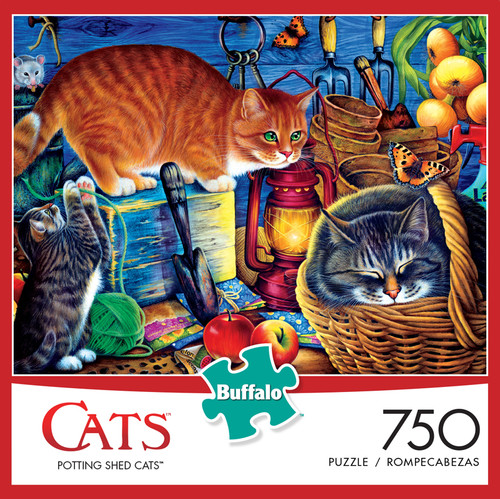 Cats Potting Shed Cats 750 Piece Jigsaw Puzzle Box