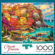 Chuck Pinson Escapes A Beautiful Day at Cinque Terre 1000 Piece Jigsaw Puzzle Box
