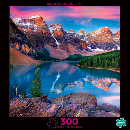 Photography Mountains on Fire 300 Large Piece Jigsaw Puzzle Box