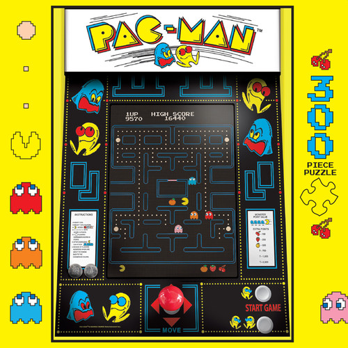 Retro 1990s Pac-Man 300 Large Piece Jigsaw Puzzle Box