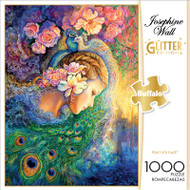 Josephine Wall Peacock Daze Glitter Edition 1000 Piece Jigsaw Puzzle Box