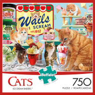 Cats Ice Cream Raiders 750 Piece Jigsaw Puzzle Box
