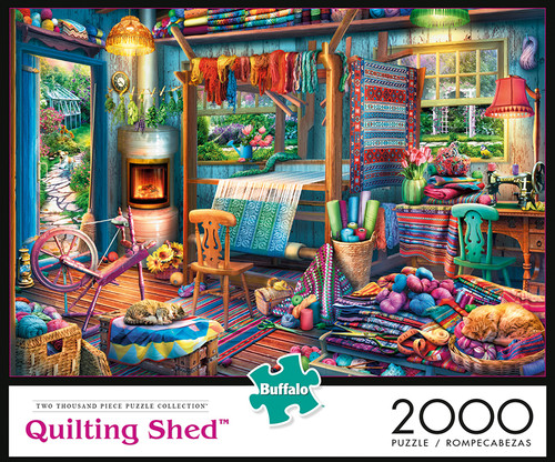 Quilting Shed 2000 Piece Jigsaw Puzzle Box
