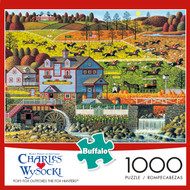 Charles Wysocki Foxy Fox Outfoxes The Fox Hunters 1000 Piece Jigsaw Puzzle Box